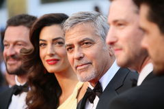 George Clooney and Amal Alamuddin stock photo