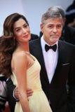 George Clooney, Amal Clooney Στοκ Φωτογραφία