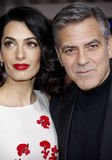George Clooney and Amal Clooney Stock Photo