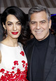 George Clooney and Amal Clooney Stock Photography