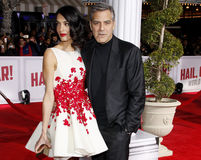 George Clooney and Amal Clooney Royalty Free Stock Images