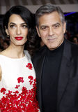 George Clooney and Amal Clooney Stock Images