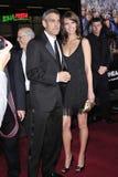 George Clooney, Sarah Larson Στοκ Εικόνα