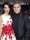George Clooney e Amal Clooney Foto de Stock Royalty Free
