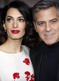 George Clooney et Amal Clooney Images libres de droits