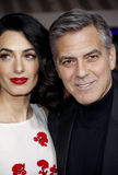 George Clooney et Amal Clooney Photos stock