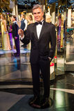 George Clooney in Grevin museum of the wax figures in Prague. stock photos