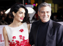 George Clooney i Amal Clooney Obrazy Royalty Free