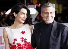 George Clooney och Amal Clooney Royaltyfria Bilder