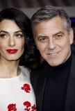 George Clooney och Amal Clooney Arkivfoton