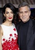 George Clooney och Amal Clooney Arkivbilder