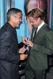 George Clooney, Ryan Gosling. At the The Ides Of March Los Angeles Premiere, Academy of Motion Picture Arts and Sciences, Beverly Hills, CA. 09-27-11 Stock Photo