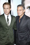 George Clooney, Ryan Gosling Stock Photos