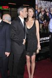 George Clooney, Sarah Larson Στοκ φωτογραφία με δικαίωμα ελεύθερης χρήσης