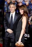 George Clooney and Sarah Larson Stock Image