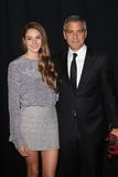 George Clooney, Shailene Woodley Lizenzfreie Stockfotografie