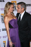 George Clooney, Stacy Keibler Stock Photography