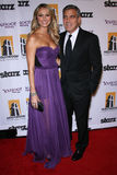 George Clooney, Stacy Keibler Royalty Free Stock Photo