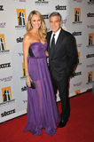 George Clooney, Stacy Keibler Stock Image