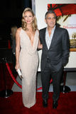 George Clooney, Stacy Keibler Stock Photo