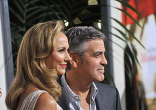 George Clooney, Stacy Keibler. George Clooney & girlfriend Stacy Keibler at the Los Angeles premiere of his new movie The Descendants at the Samuel Goldwyn Stock Images