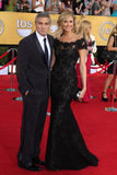 George Clooney, Stacy Keibler Royalty Free Stock Image