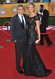 George Clooney, Stacy Keibler Royalty Free Stock Photography