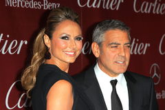 George Clooney, Stacy Keibler. Stacy Keibler, George Clooney  at the 23rd Annual Palm Springs International Film Festival Awards Gala, Palm Springs Convention Stock Photography