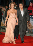 George Clooney,Stacy Keibler Royalty Free Stock Photos