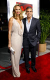 George Clooney and Stacy Keibler Stock Images