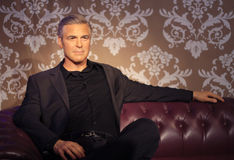 George Clooney. Wax statue at Madame Tussauds in London royalty free stock photo