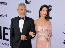 George Clooney y Amal Clooney imagenes de archivo