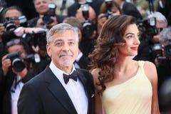 George Clooney y Amal Alamuddin imágenes de archivo libres de regalías
