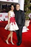 George Clooney y Amal Clooney Imágenes de archivo libres de regalías