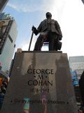 George Cohan Statue auf Times Square, New York Stockbild