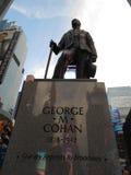 George Cohan Statue en Times Square, Nueva York imagen de archivo