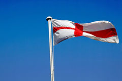 George Cross. The English national flag the George Cross flying in all its glory Royalty Free Stock Image