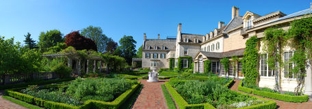 George Eastman House panorama, Rochester, New York Royaltyfria Foton