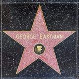 George Eastmans Stern auf Hollywood-Weg des Ruhmes lizenzfreie stockfotografie