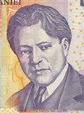 George Enescu. On 5 Leu 2005 Banknote from Romania. Composer, pianist, violinist, conductor and teacher Royalty Free Stock Photo