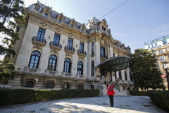 George Enescu-museum in Boekarest Royalty-vrije Stock Foto's
