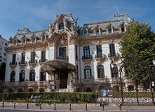 George Enescu Museum in Bucharest, Romania. The Cantacuzino Palace of Bucharest, Romania, built by Mayor Gheorghe Grigore Cantacuzino between 1901 and 1903 stock photo