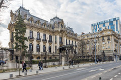 """George Enescu National Museum in Bucharest. Cantacuzino Palace located on Victory Avenue , nowadays  """"George Enescu"""" National Museum one of the most Royalty Free Stock Image"""