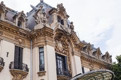 George Enescu National Museum in Bucharest stock images