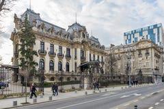 George Enescu National Museum i Bucharest Royaltyfri Bild