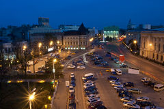 George Enescu square. View in night Royalty Free Stock Images