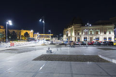 George Enescu square.  Royalty Free Stock Photo