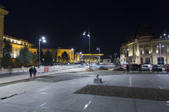 George Enescu square.  Royalty Free Stock Photos