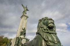 George-Etienne Cartier-standbeeld Stock Foto