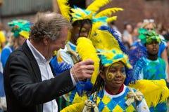 George Ferguson donne un coup de pied le carniva des Caraïbes de St Paul de Bristol Photos stock